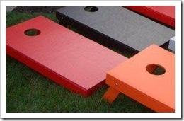 solid cornhole board